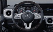 Multifunction sports steering wheel in nappa leather